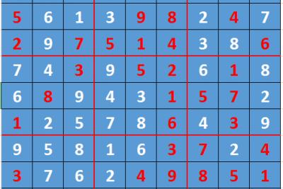 Giải ô số Sudoku kỳ 1