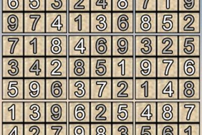 Giải ô số Sudoku kỳ 5