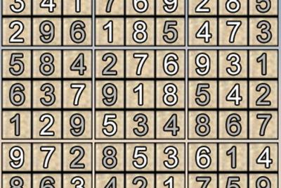 Gải ô số Sudoku kỳ 6